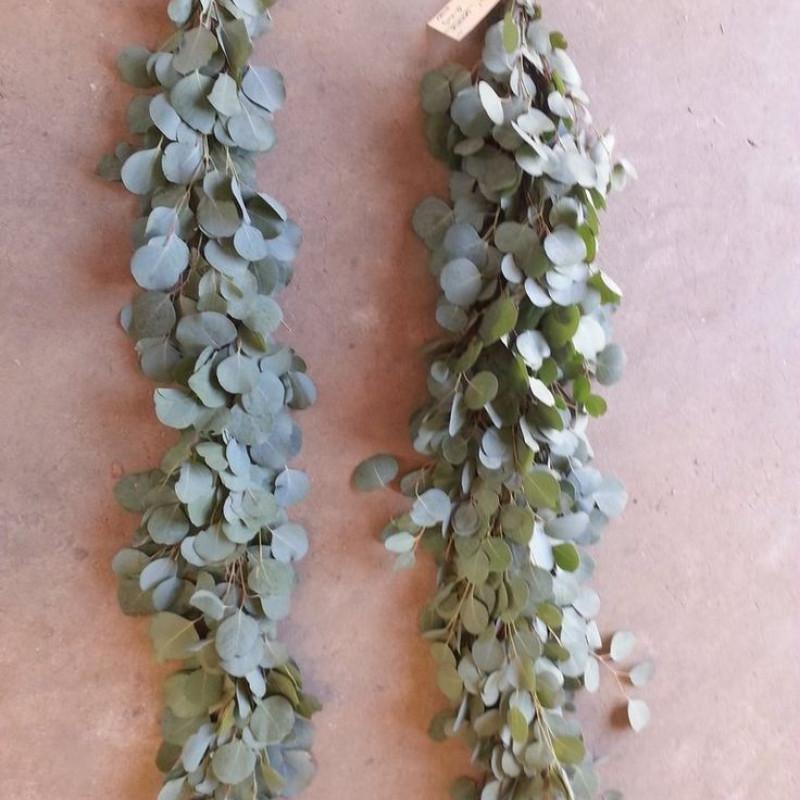 Silver Dollar Eucalyptus Garland PRICE PER FOOT